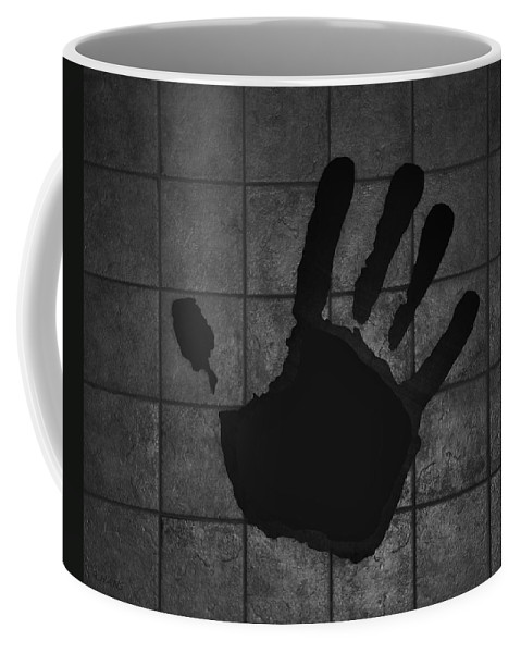 Hand Coffee Mug featuring the photograph Black Hand by Rob Hans