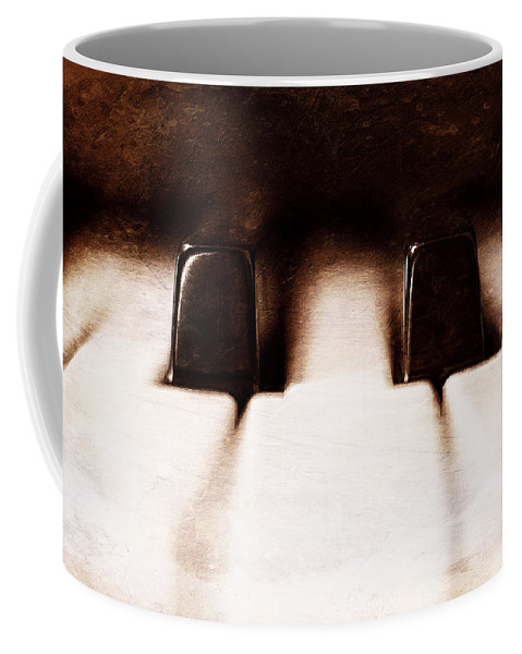 Piano Coffee Mug featuring the photograph Black Keys D Flat And E Flat by Scott Norris