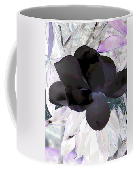 Magnolia Coffee Mug featuring the photograph Black Magnolia by Debi Singer