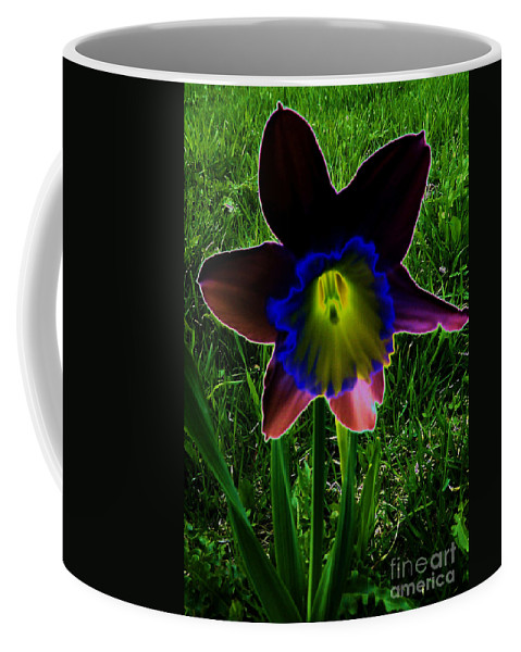 Black Narcissus Coffee Mug featuring the photograph Black Narcissus by Martin Howard
