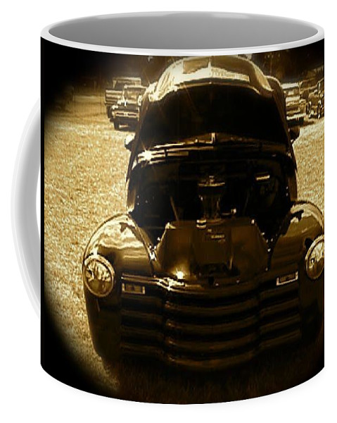 Pickup Coffee Mug featuring the photograph Black Pickup Truck by Chris W Photography AKA Christian Wilson