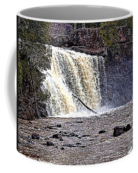 Falls Coffee Mug featuring the photograph Black River Falls by Tommy Anderson