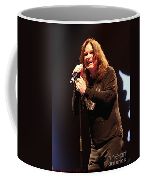 Singer Coffee Mug featuring the photograph Black Sabbath - Ozzy Osbourne by Concert Photos
