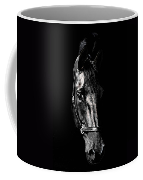 Horse Coffee Mug featuring the photograph Black Satin by Nadine Lewis