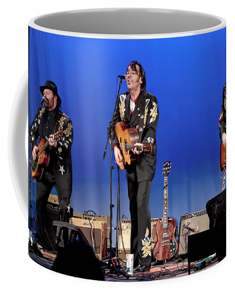 Art Coffee Mug featuring the photograph Blackie And The Rodeo Kings by Randall Nyhof