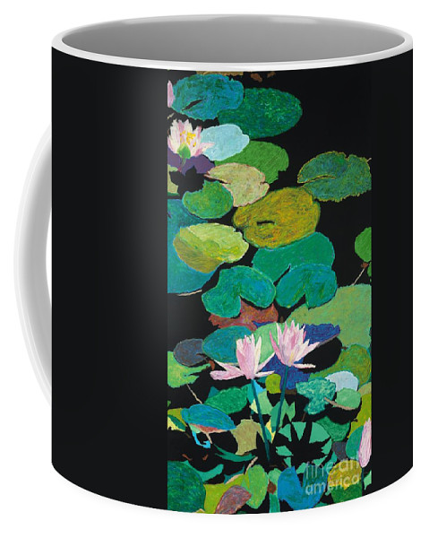 Landscape Coffee Mug featuring the painting Blairs Pond by Allan P Friedlander