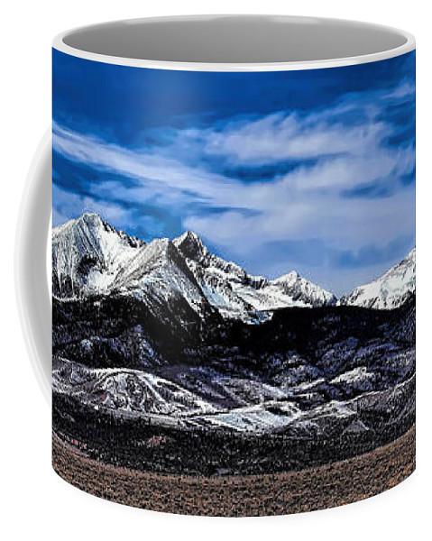 Blanca Mountains Coffee Mug featuring the photograph Blanca Mountains Near Fort Garland Colorado by Jon Burch Photography