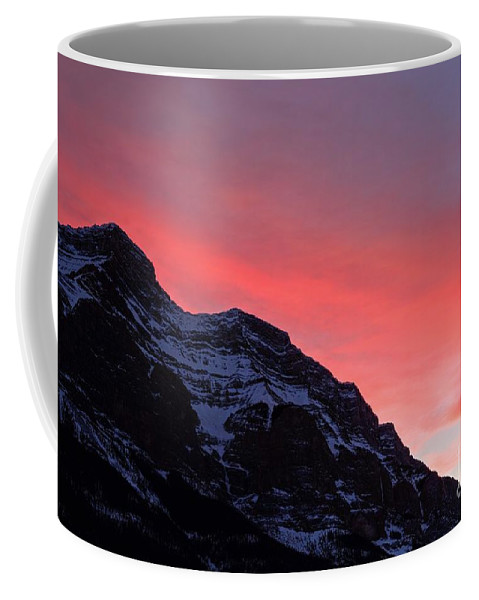 Banff National Park Coffee Mug featuring the photograph Blazing Pink by James Anderson