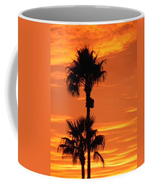 Sunset Coffee Mug featuring the photograph Blazing Sunset by Deb Halloran