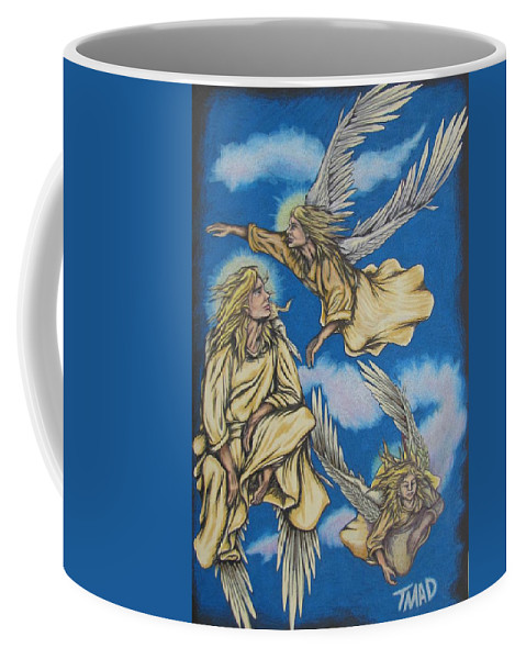 Michael Coffee Mug featuring the drawing Bliss by Michael TMAD Finney