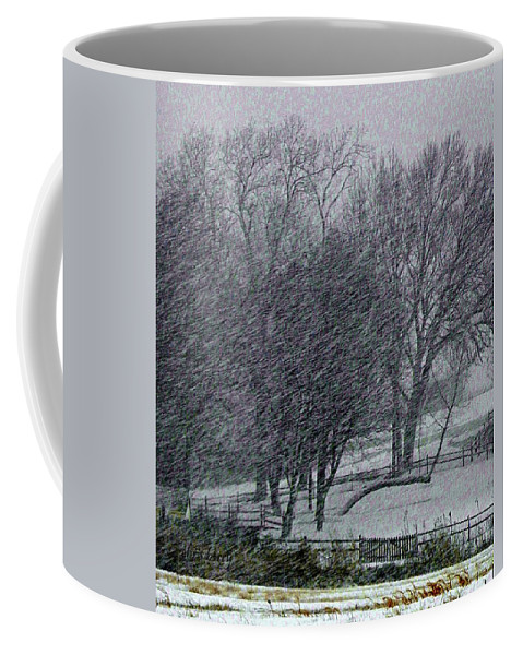 Snow Coffee Mug featuring the photograph Blizzard 2013 by Chris Berry