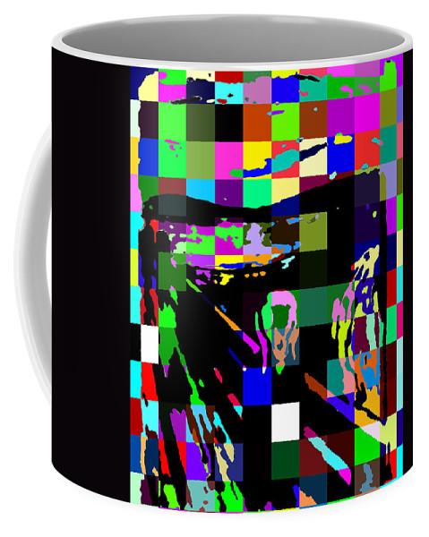 Scream Coffee Mug featuring the digital art Blocked Scream by Ron Hedges