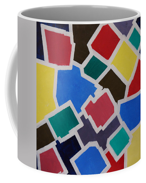 Acrylic Coffee Mug featuring the painting Outside the Box by Sergey Bezhinets