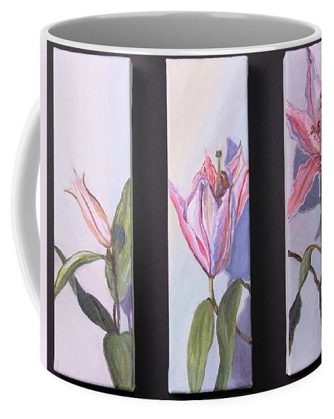 Flowers Coffee Mug featuring the painting Bloom by Stephanie Hatfalvi