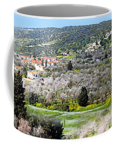 Augusta Stylianou Coffee Mug featuring the photograph Blooming Almond Trees by Augusta Stylianou