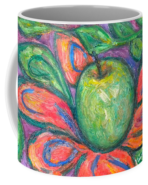 Apple Paintings Coffee Mug featuring the painting Blooming Apple by Kendall Kessler