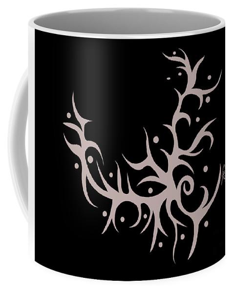 Black Coffee Mug featuring the digital art Blooming by Jamie Lynn