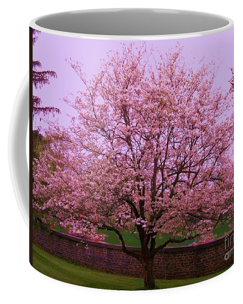 Blossoming Coffee Mug featuring the painting Blossoming Almond Tree by Eric Schiabor