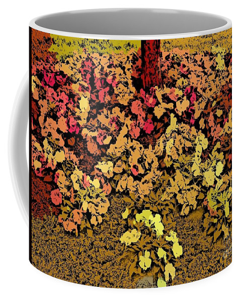 Flowers Coffee Mug featuring the photograph Blossoms And Tree In Yellow And Red by Miriam Danar