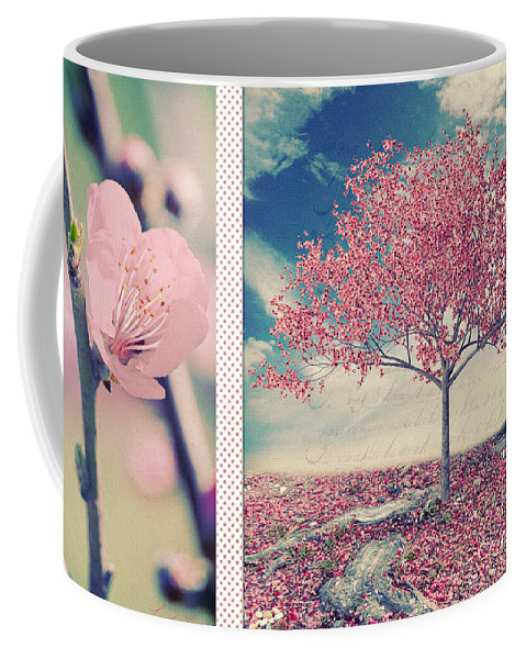 Spring Coffee Mug featuring the digital art Blossoms Of Spring by Linda Lees