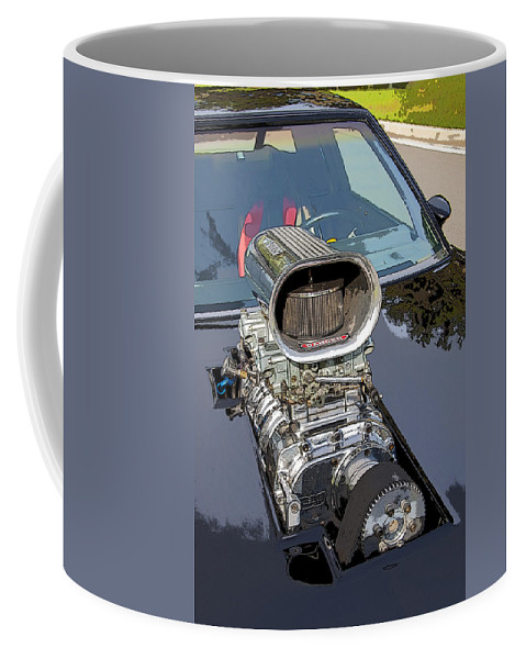 V8 Coffee Mug featuring the photograph Blow Me Down by Rich Franco