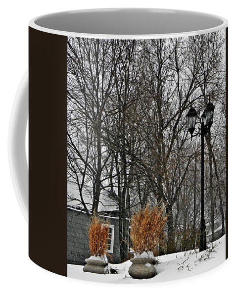 Tree Coffee Mug featuring the photograph Blowing Snow by Chris Berry