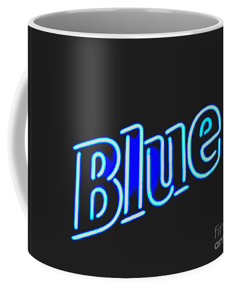 Coffee Mug featuring the photograph Blue 2 by Kelly Awad