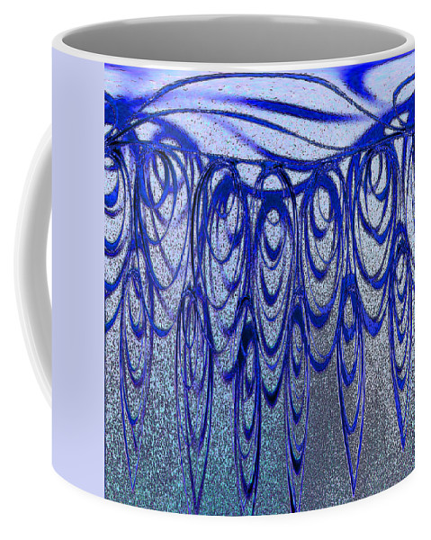 Coffee Mug featuring the photograph Blue And Black Swirl Abstract by Karen Adams