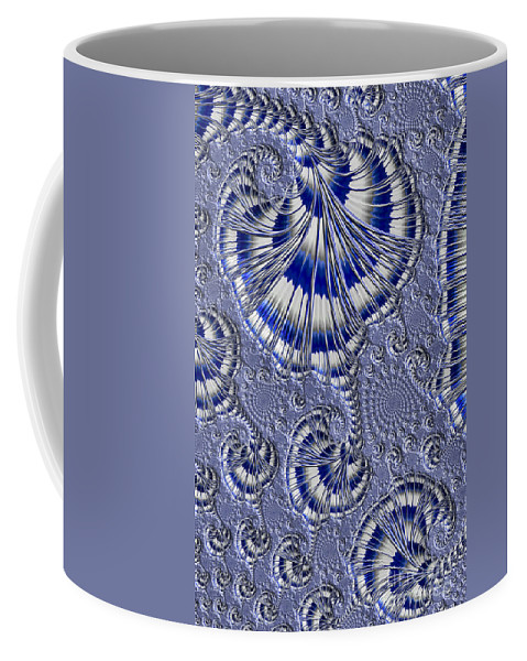 Fractal Coffee Mug featuring the photograph Blue And Silver 1 by Steve Purnell