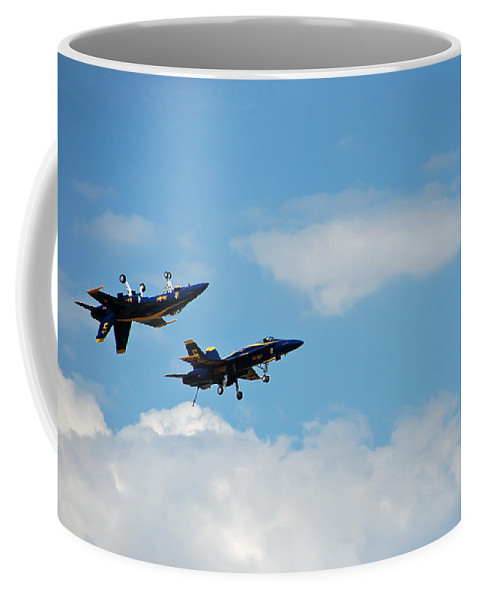 Dare Coffee Mug featuring the photograph Blue Angels 1 by Aimee L Maher ALM GALLERY