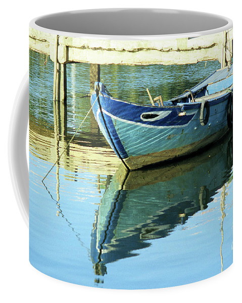 Vietnam Coffee Mug featuring the photograph Blue Boat 01 by Rick Piper Photography
