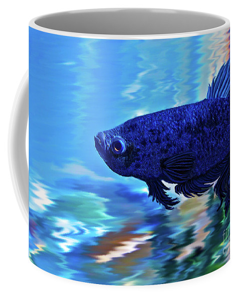 Fine Art Photography Coffee Mug featuring the painting Blue Boy by Patricia Griffin Brett