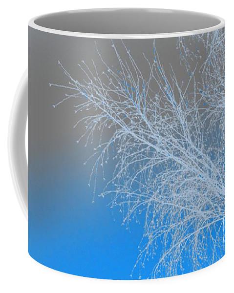 Blue Coffee Mug featuring the digital art Blue Branches by Carol Lynch