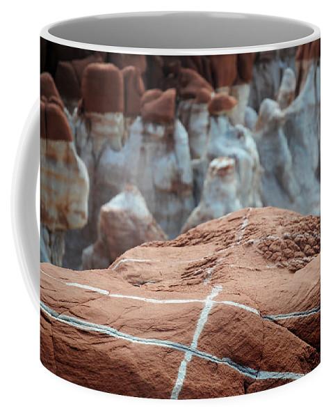 Blue Canyon Arizona Coffee Mug featuring the photograph Blue Canyon 71 by Jeff Brunton