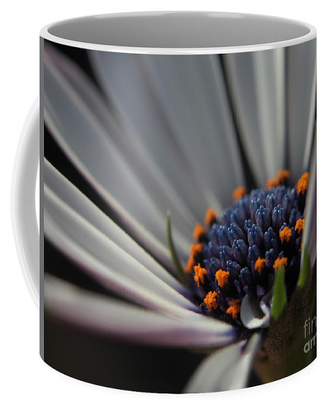 Flower Coffee Mug featuring the photograph Blue Center by Kenny Glotfelty