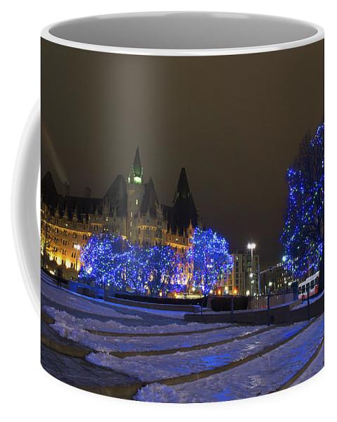Nina Stavlund Coffee Mug featuring the photograph Blue Christmas.. by Nina Stavlund