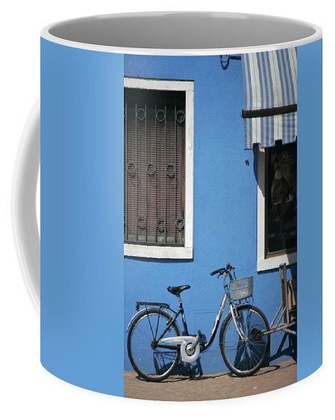 Burano Coffee Mug featuring the photograph Blue by Christopher Rees