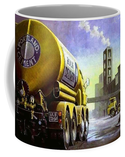 Art For Investment Coffee Mug featuring the painting Blue Circle Foden by Mike Jeffries