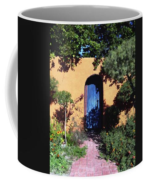Blue Door Coffee Mug featuring the photograph Blue Door At Old Mesilla by Kurt Van Wagner