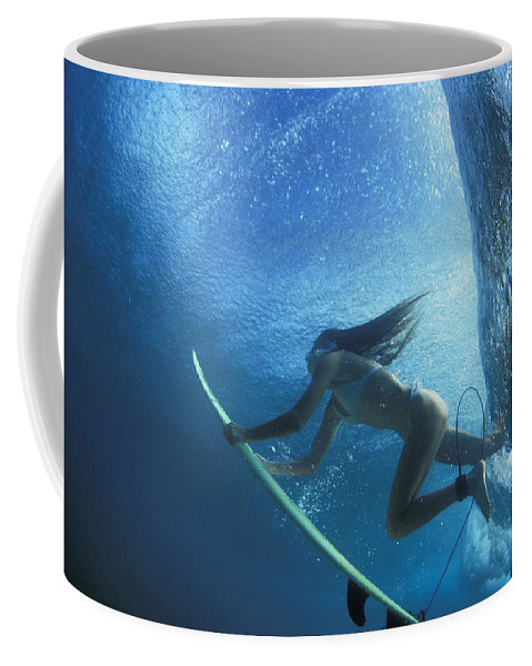 Under Water Coffee Mug featuring the photograph Blue Embrace by Sean Davey