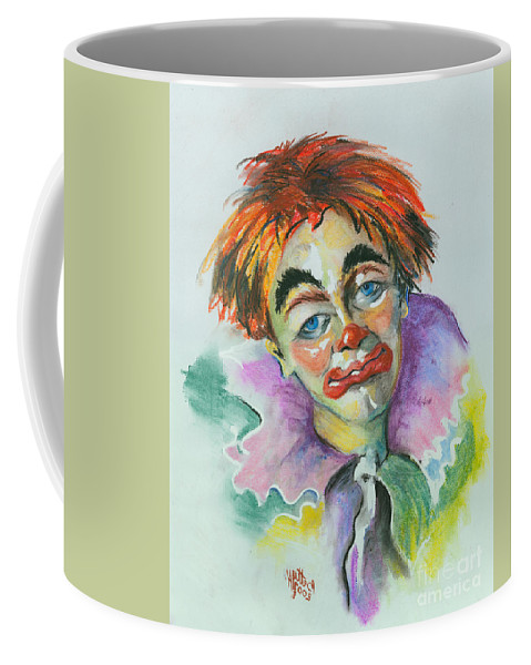 Canvas Print Coffee Mug featuring the painting Blue Eyes by Elisabeta Hermann