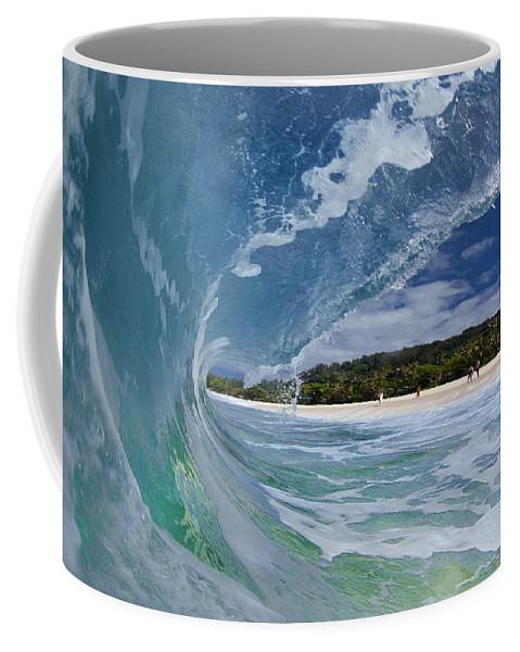 Clean Coffee Mug featuring the photograph Blue Foam by Sean Davey