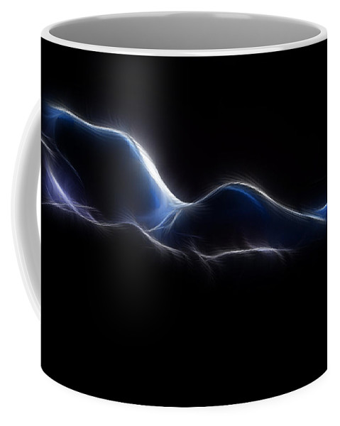 Blue Coffee Mug featuring the photograph Blue Form 4020 by Timothy Bischoff