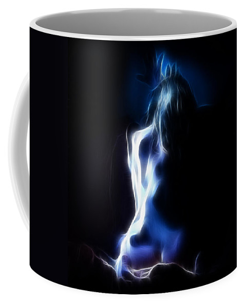 Color Coffee Mug featuring the photograph Blue Form 4022 by Timothy Bischoff