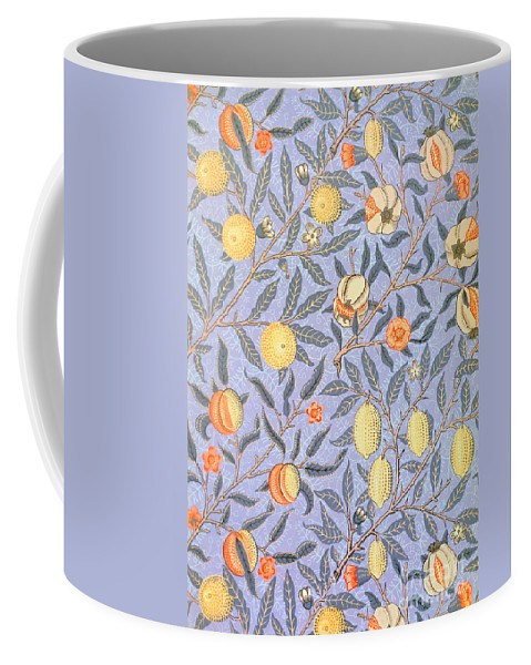 William Morris Coffee Mug featuring the drawing Blue Fruit by William Morris