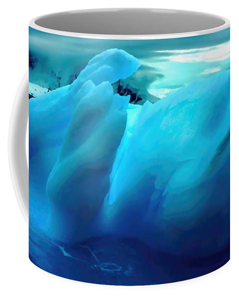 Iceberg Coffee Mug featuring the photograph Blue Ice by Amanda Stadther