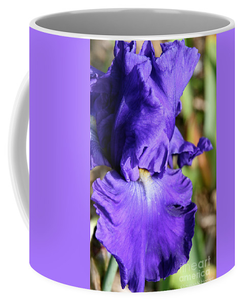 Flower Coffee Mug featuring the photograph Blue June by Susan Herber