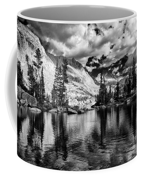 Lake Coffee Mug featuring the photograph Blue Lake by Cat Connor