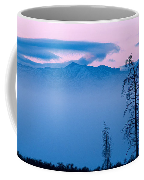 Yellowstone Coffee Mug featuring the photograph Blue Morning by Steve Stuller