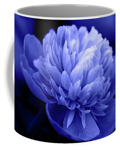 Flowers Coffee Mug featuring the photograph Blue Peony by Sandy Keeton